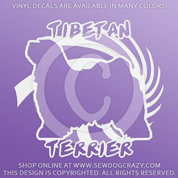 Cool Tibetan Terrier Vinyl Stickers