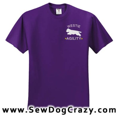 Embroidered Westie Agility Tshirts