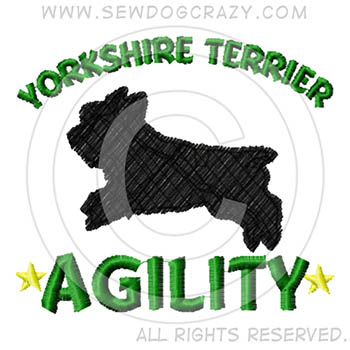 Embroidered Yorkie Agility Shirts