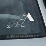 Border Collie AFrame Car Window Sticker