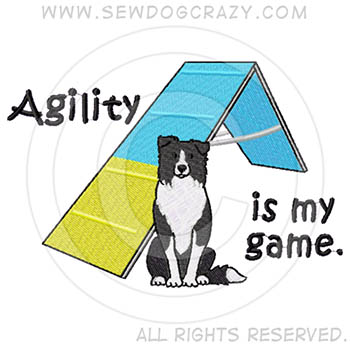 Embroidered Border Collie Agility Shirts