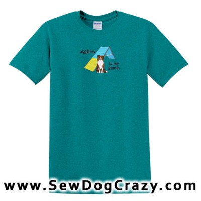 Embroidered Border Collie Agility TShirts