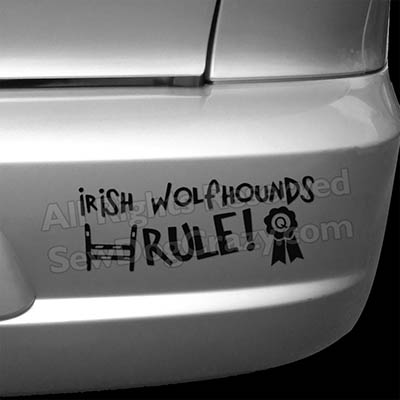 Irish Wolfhound Dog Sports Bumper Stickers