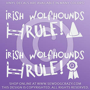 Dog Sports Irish Wolfhound Decal