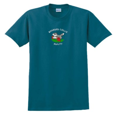 Embroidered Beardie Agility T-Shirt