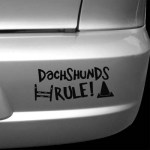 Dachshunds Rule Decal