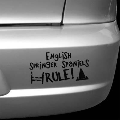 English Springer Spaniel Dog Sports Vinyl Sticker