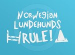 Norwegian Lundehunds Rule Decal