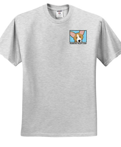 Unique Corgi T-Shirt Embroidered