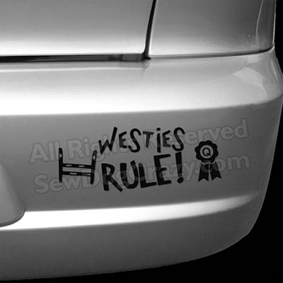 Westies Rule Bumper Stickers