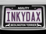 Bedlington Terrier Agility License Plate Frame
