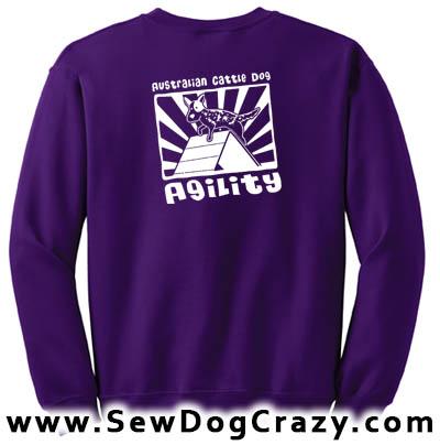 Cattle Dog Agility Sweatshirt
