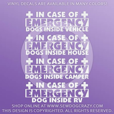 In Case of Emergency Dog Decals