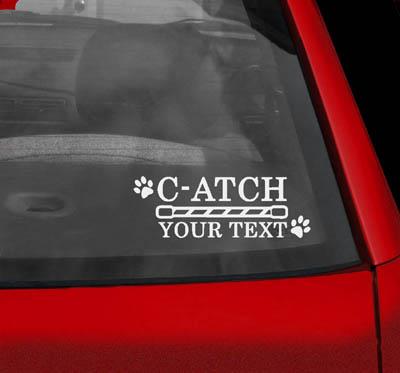 Personalized CATCH Agility Sticker