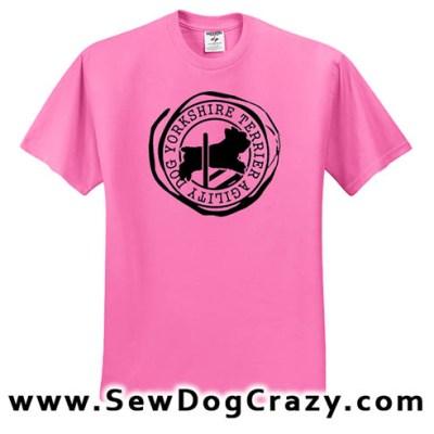 Yorkshire Terrier Agility Tshirts