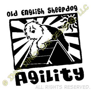 Old English Sheepdog Agility Cartoon