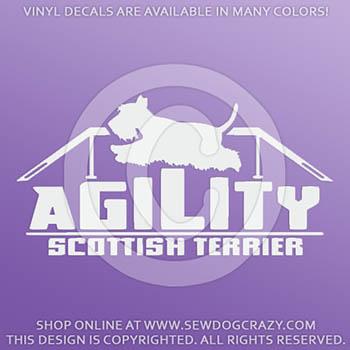 Scottish Terrier Agility Dog Walk Car Decals