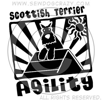 Scottish Terrier Agility Dog Shirts