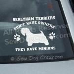 Funny Sealyham Terrier Window Decals