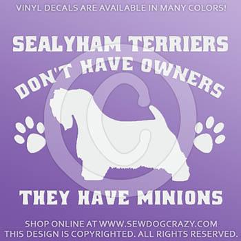 Funny Sealyham Terrier Decals