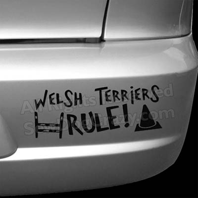 Welsh Terriers Rule Dog Sports Bumper Stickers