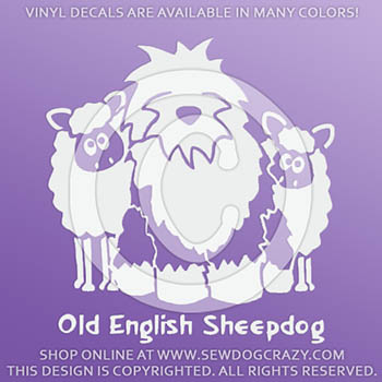 Old English Sheepdog Sheep Decals