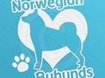 I Love Buhunds Decal