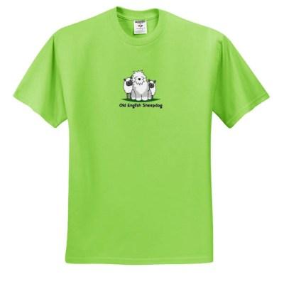Cartoon Old English Sheepdog T-Shirt