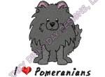 Cartoon Black Pomeranian Embroidery