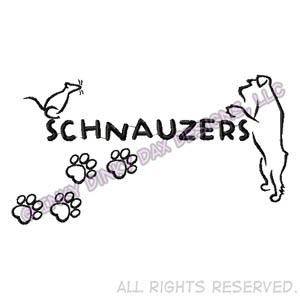 Ratting Schnauzer Embroidery