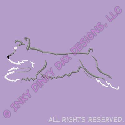 Jumping Schnauzer Embroidery