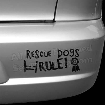 Rescue Dogs Rule Bumper Sticker