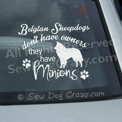 Belgian Sheepdog Car Window Stickers