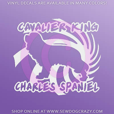Cool Cavalier Spaniel Stickers
