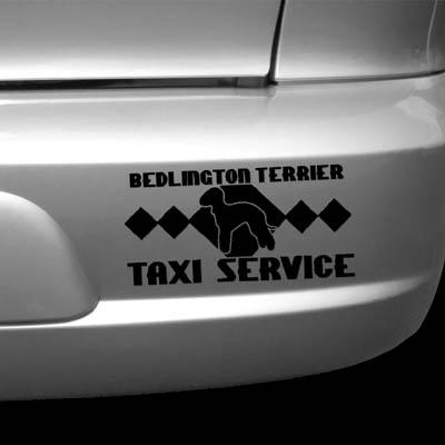 Bedlington Terrier Taxi Vinyl Decal