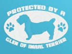Protected by a Glen of Imaal Terrier Decal