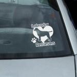 I Love Labrador Retrievers Vinyl Decal