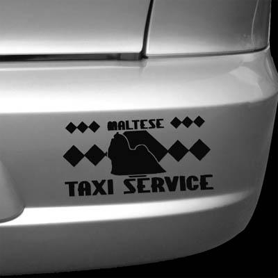 Maltese Taxi Sticker