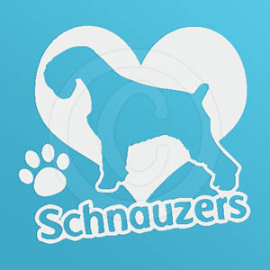 I Love Schnauzers Vinyl Sticker