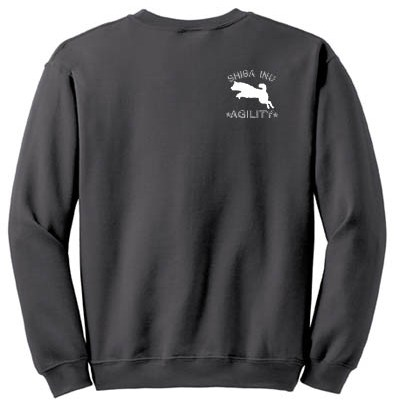 Embroidered Shiba Inu Agility Sweatshirt