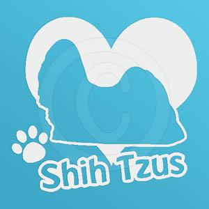 I Love Shih Tzus Vinyl Decal