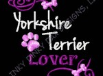 Yorkshire Terrier Lover Apparel