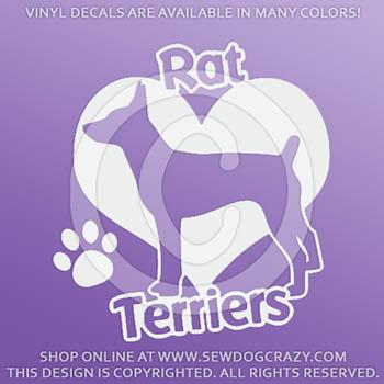 Love Rat Terriers Car Decals
