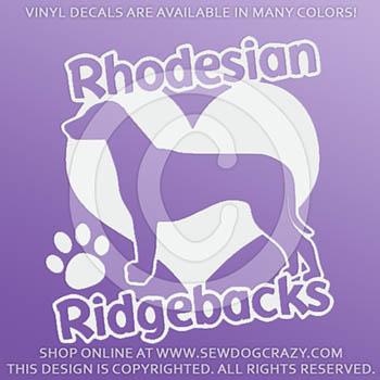 Love Ridgebacks Decal