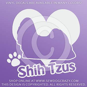 Love Shih Tzus Vinyl Decals