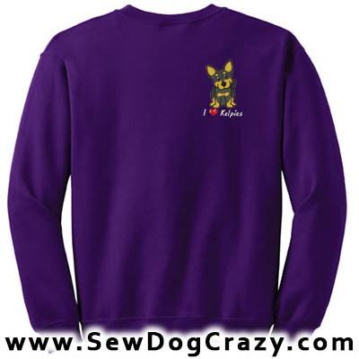 Embroidered Cartoon Kelpie Sweatshirts
