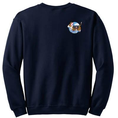 Agility Dog Basset Hound Embroidered Sweatshirt