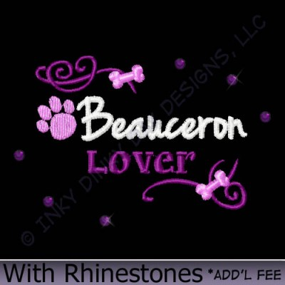 Unique Beauceron Gifts with Rhinestones