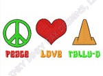 Peace Love Rally-O Embroidered Apparel
