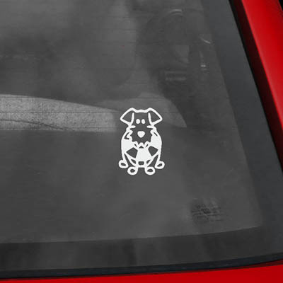 Cute Life Preserver Dog Stick Figure Decals